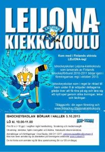LKK flyer ICE TEAM _hösten 2013