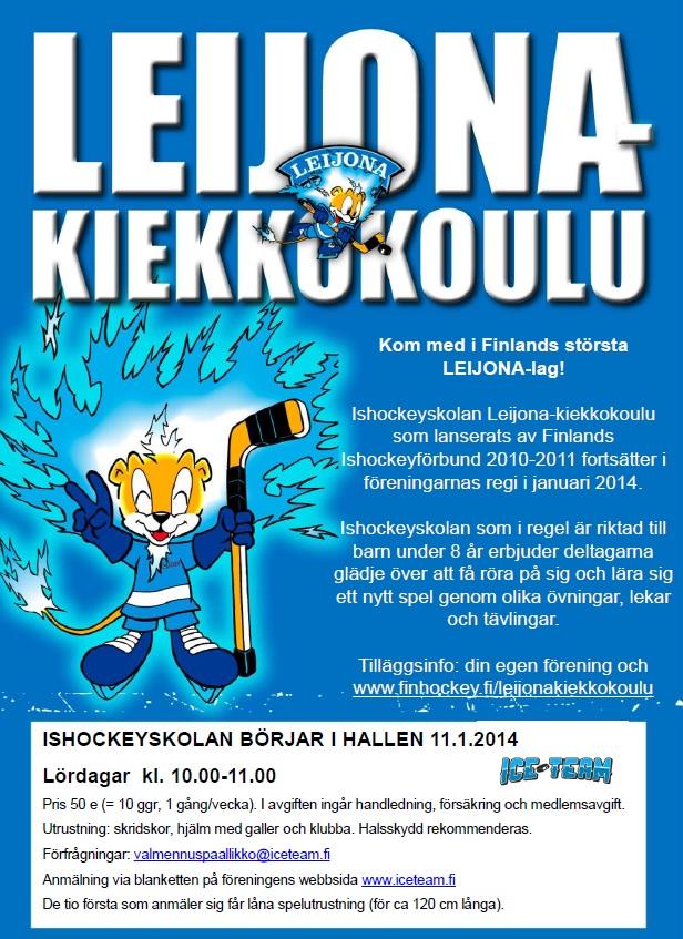 LKK flyer ICE TEAM ruotsi_kevät 2014