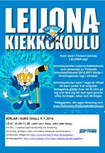 LKK flyer Leijona kiekkokoulu_2016vår